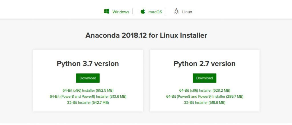 Install python and select the version