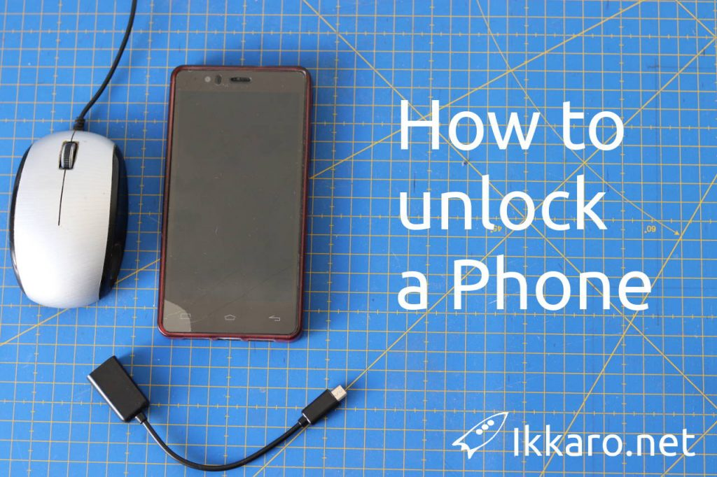 How to unlock a phone wita a broken screen using a OTG wire