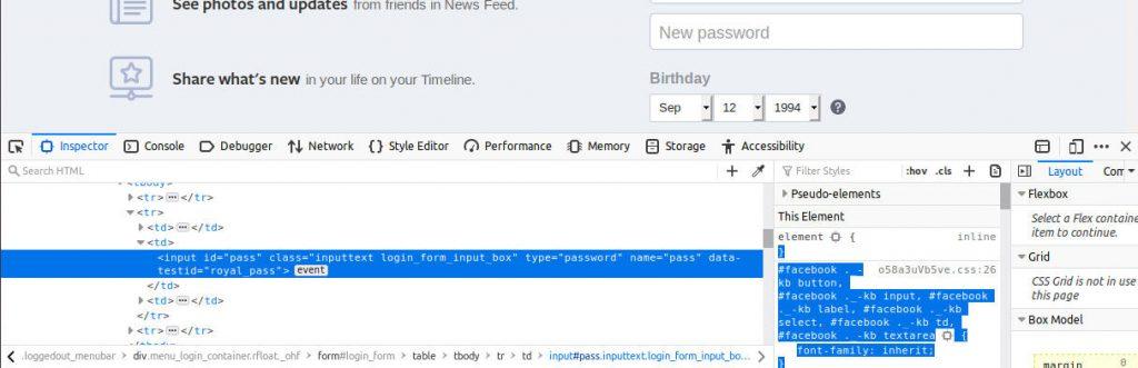 change type =password in html