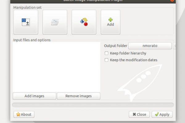 GIMP batch processing