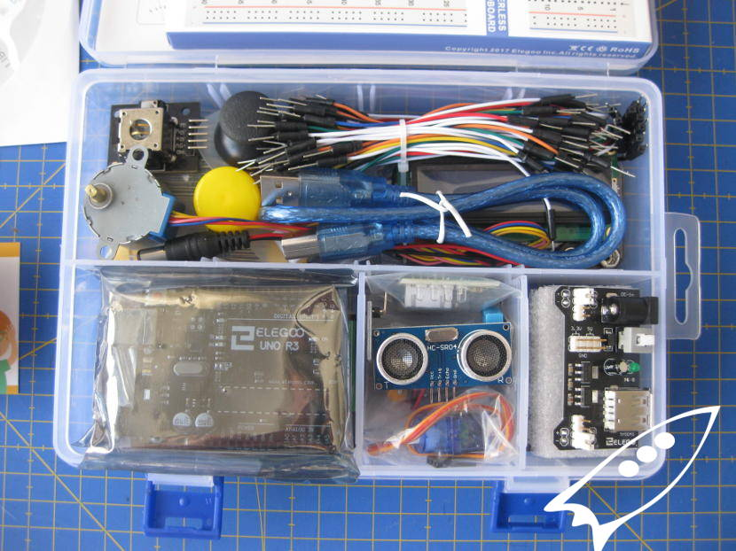Arduino starter kit, parts and components