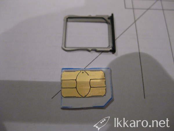 SIM card cut