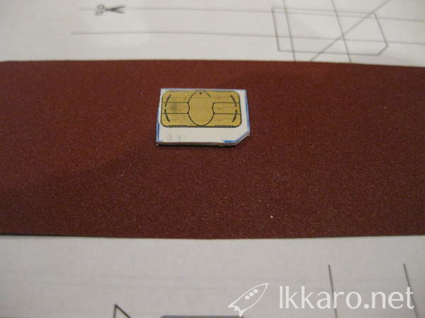 sanding sim card to adapt size