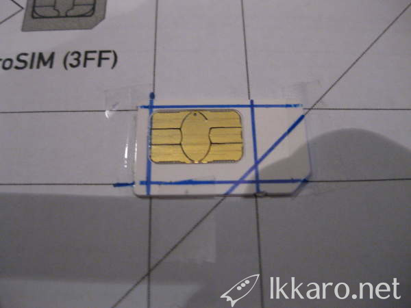 marked card for micro SIM